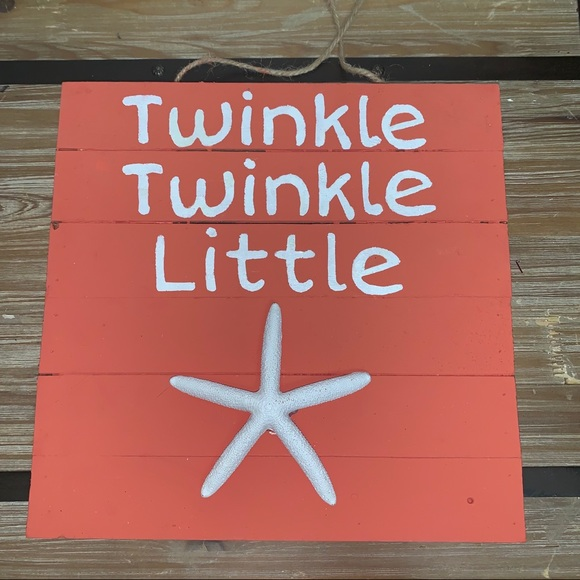 """Other - NEW** """"Twinkle Twinkle"""" Hanging Wooden Sign"""